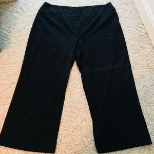 LANE BRYANT WIDE LEG PINSTRIPE DRESS PANTS